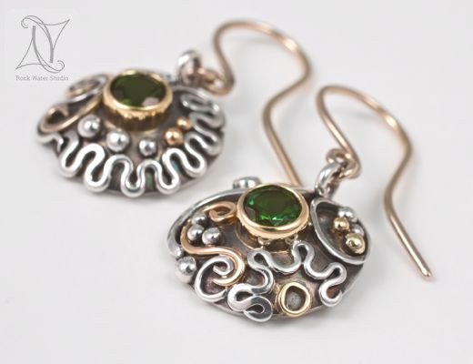 handmade gold and silver earrings