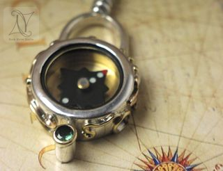 image of Gold and Silver Compass Necklace