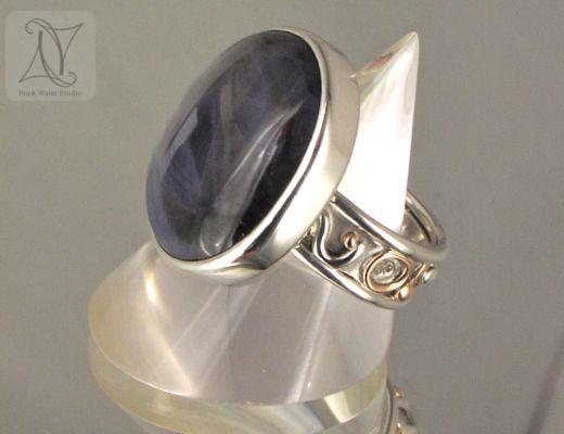 wedding anniversary sapphire ring jewellery gift (g133)