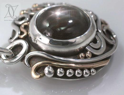 black star sapphire libretto necklace (g205)