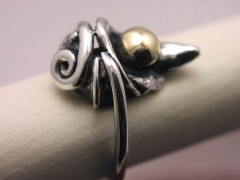 Swirling Waterdrop Ring
