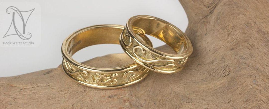 Hand Made Gold Jewellery Wedding Rings Creating Handmade