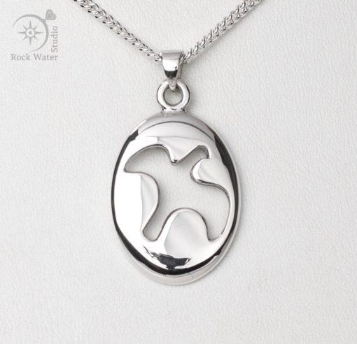 Silver Dove Pendant Christening Gift (g459)