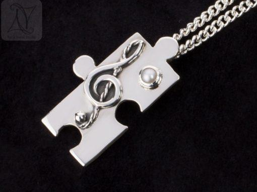 Silver Treble Clef Necklace