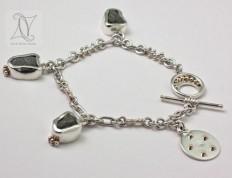 Golden Wedding Anniversary Bracelet
