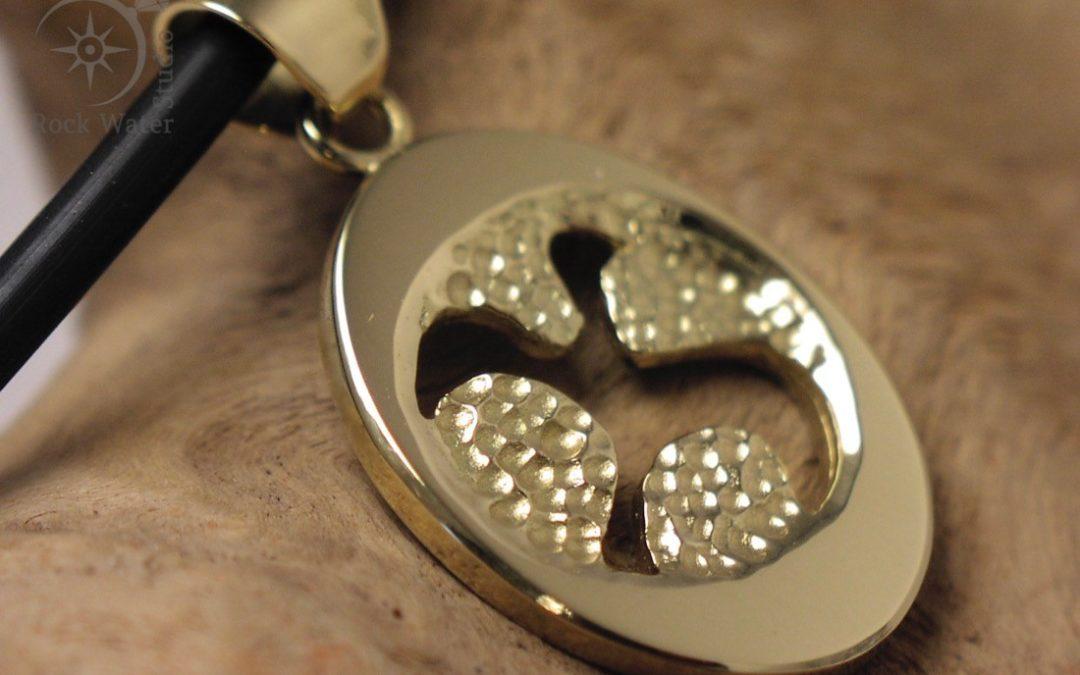 Gold Dove Pendant