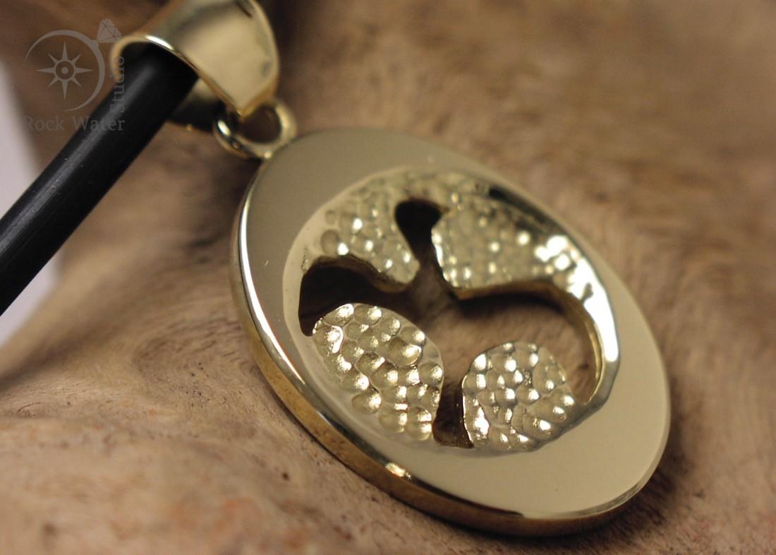 Handmade Gold Dove Pendant Gift (c123)
