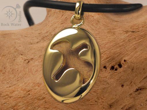 18k Gold Dove Pendant