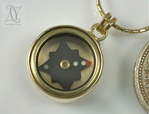 Classic Gold Compass Pendant