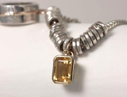 Citrine in Golden Glow Compass Bracelet Gift (g337)