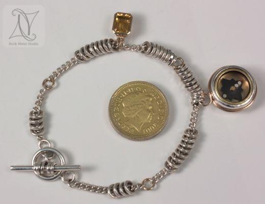 Golden Glow Compass Bracelet Size Guide (g337)