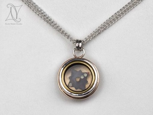 Silver and Gold Compass Pendant