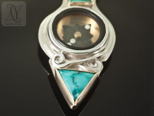 Path of Turquoise Compass Pendant