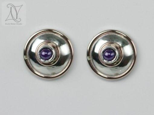 Amethyst Lentille Earrings