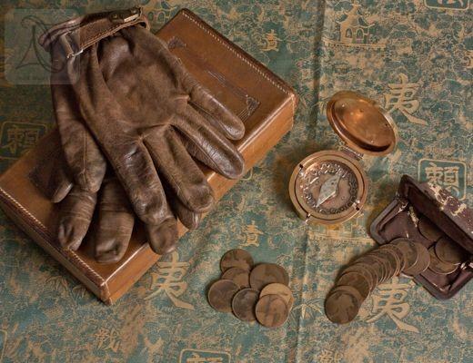 Handmade brass and silver compass locket box for adventurers (g380)