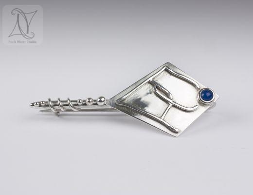 Handmade Silver Kilt Pin