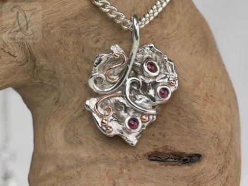 Silver Vine Leaf Necklace
