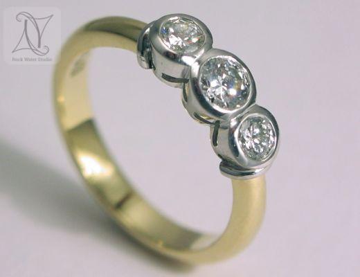 Handmade Diamond Engagement Ring