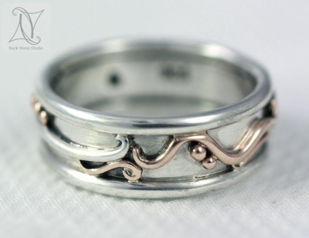 Handmade Botanical Wedding Ring (g284)