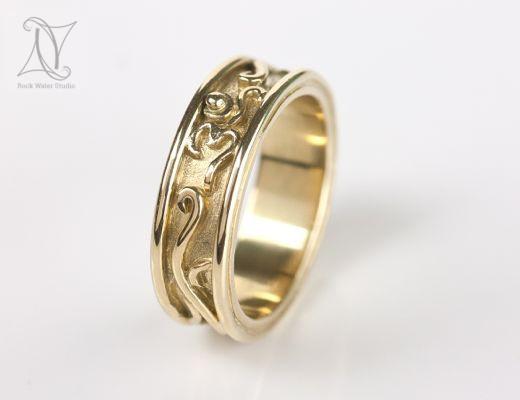18K Gold OM Wedding Ring
