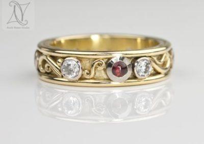 18k Diamond Eternity Ring Custom Made (g398)