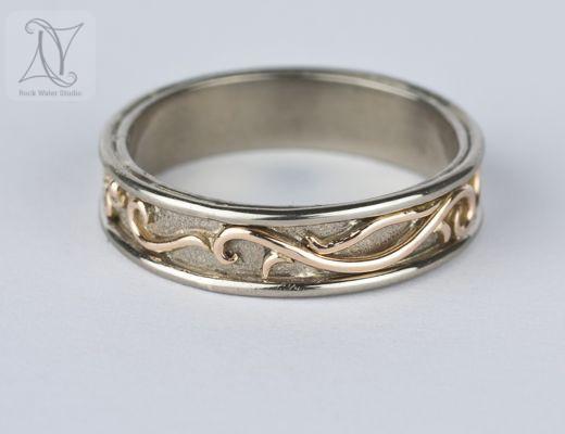 White Gold OM Wedding Ring