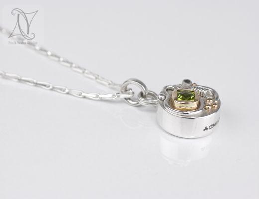 peridot talisman working compass pendant (g412)