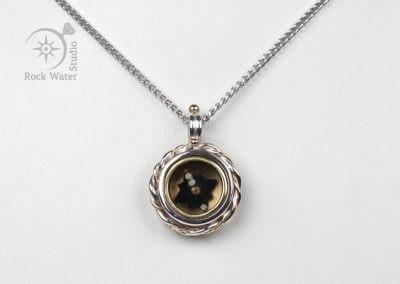 Nautical Compass Pendant Gift for Girlfriend (g369)