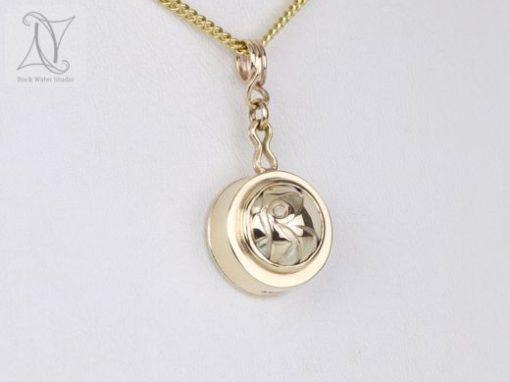 Gold Puzzle Compass Pendant