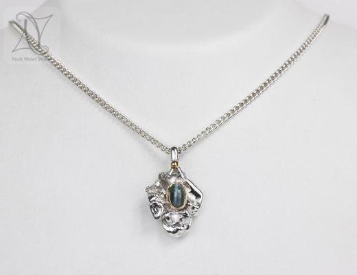 Tourmaline wedding anniversary necklace (g392)