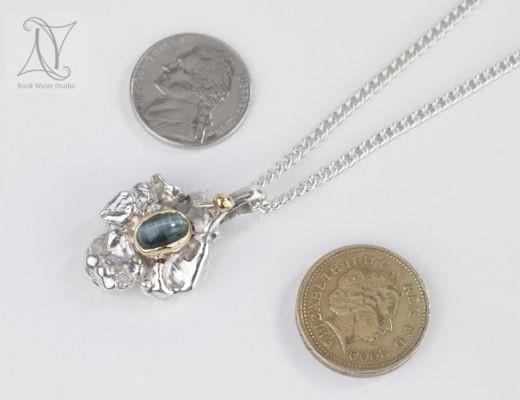 Catseye tourmaline Wedding Anniversary Necklace (g392)