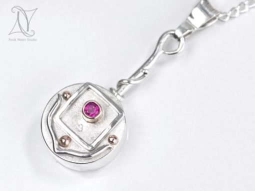 Ruby Compass Necklace