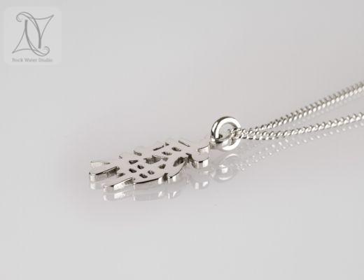 Silver Bujinkan Symbol Pendant gift for husband (g480)