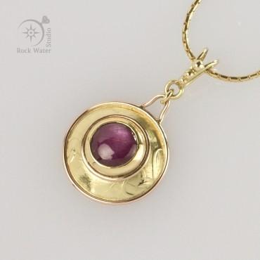 Wedding Anniversary Ruby Necklace (g140)