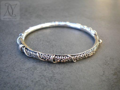 Handmade Silver Bracelet for Travelling (g487)