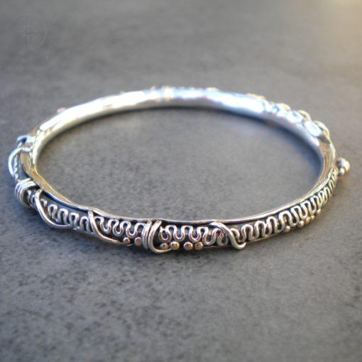 Handmade Silver Bangle (g487)