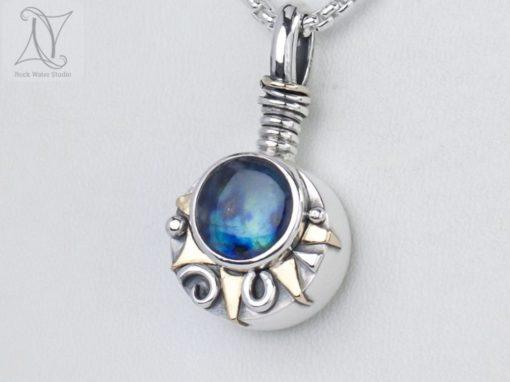 Aurora Sunburst Compass Necklace
