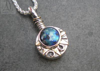 Aurora Borealis Compass Necklace (g494)