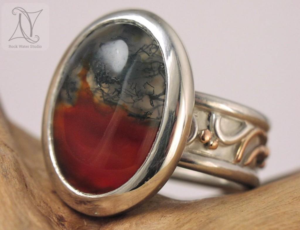 Handmade Agate Ring (g085)