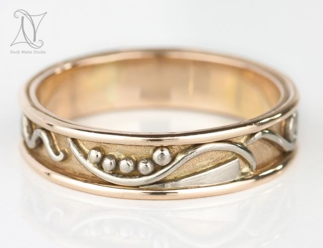 Handmade Rose Gold Commitment Ring (g402)
