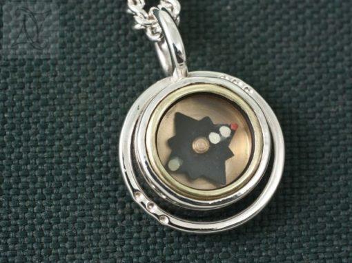 Halo Silver Compass Pendant