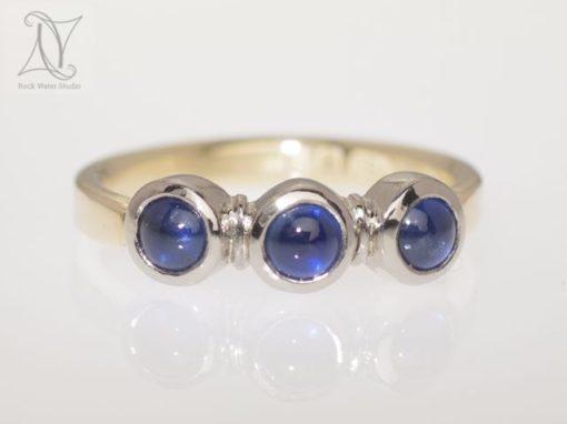 Sapphire Half Eternity Ring