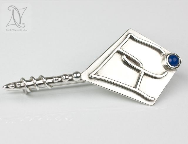 Handmade Silver Kilt Pin for Bridegroom (g405)