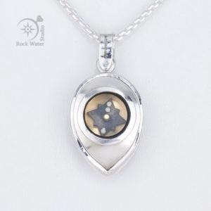 Love Heart Compass Pendant (g500)