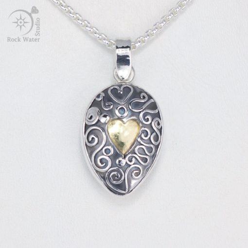Handmade silver graduation compass necklace (g500)