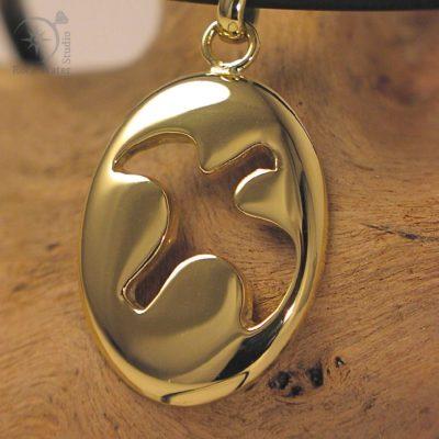 Handmade Gold Dove Pendant (C125)