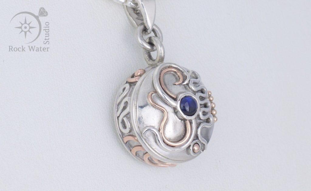 Blue sapphire Compass Necklace (g499)