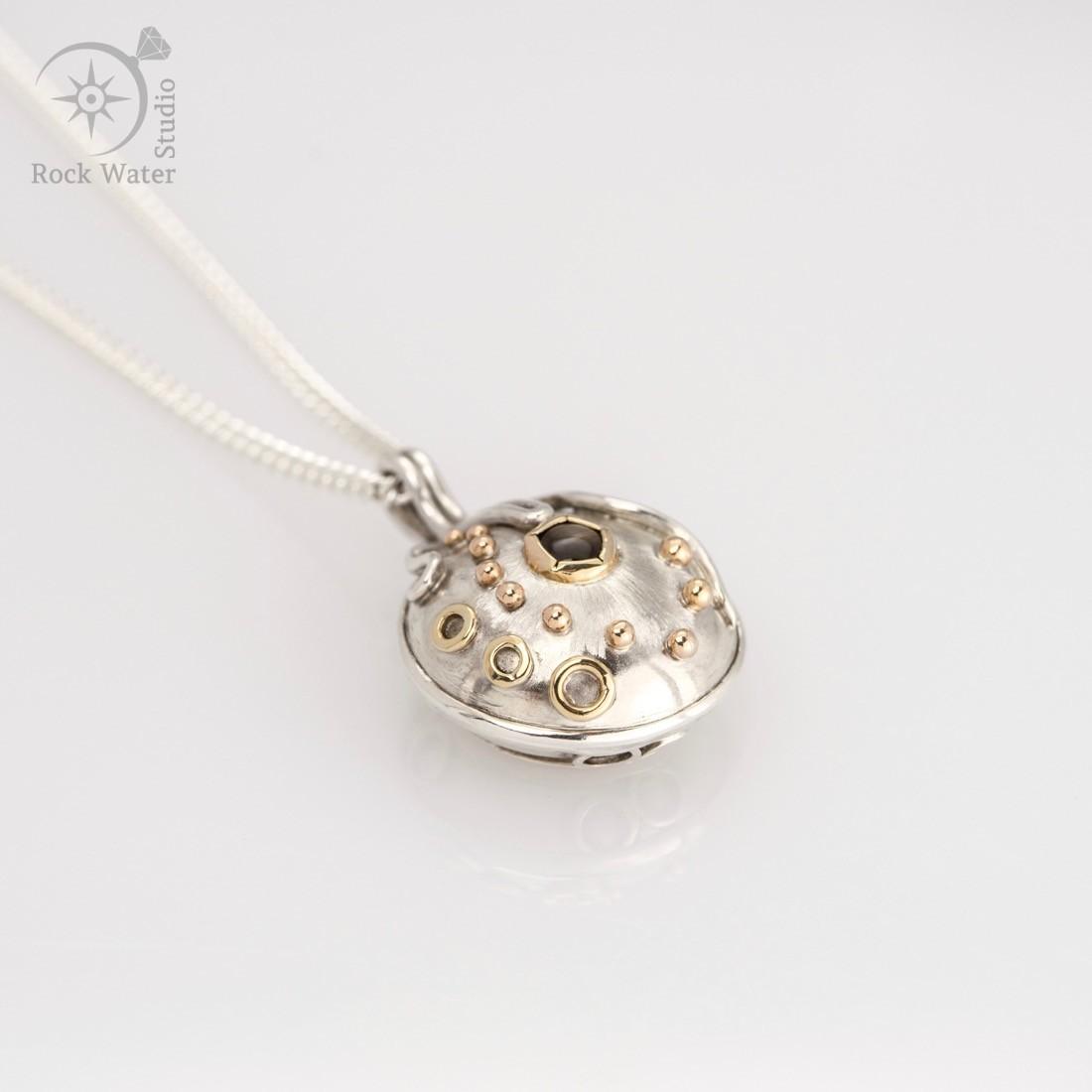 Guiding star compass necklace black star sapphire compass necklace graduation gift g506 aloadofball Choice Image
