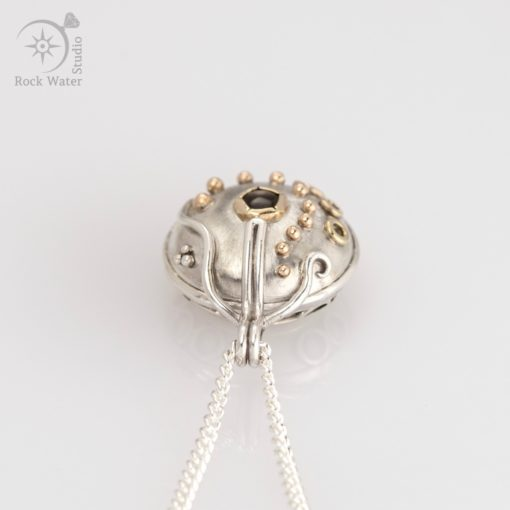 Working Compass Pendant with Sapphire (g506)