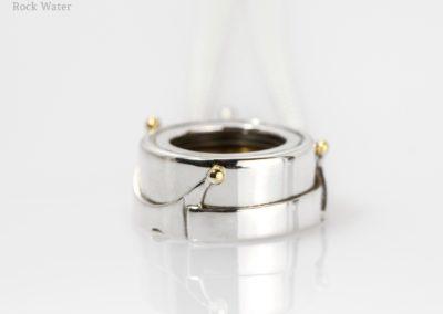Crown Silver Compass Pendant Design (g518)